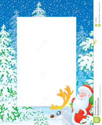 christmas santa borders and frames. Interesting Christmas Download Christmas Photo Frame With Santa Claus Riding On R Stock  Illustration  Of Reindeer Borders And Frames D