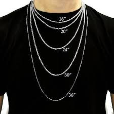 Dog Tag Size Chart Mens Necklace Size Chart Necklace Size Charts Necklace