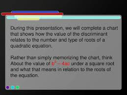 Ppt The Discriminant Powerpoint Presentation Free