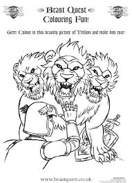 This beast x men coloring pages will make your activity a lot more colorful. Beast Quest Colouring Scholastic Kids Club