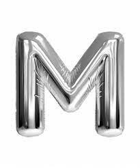 M Harfi Gümüş Balon 75 cm 32 inc
