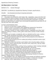 Food Preparer Job Description 20 Resume Job Description Company