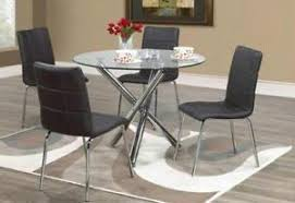lord selkirk furniture solara 5pc dining or kitchen set with round red gl table