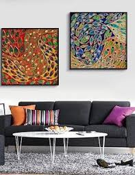 huaxingtm canvas multicoloured with abstract art framed canvas print set of 2 lgem lde huaxing http  on large framed wall art uk with sacred geometry large wall art geometric flower of life printable