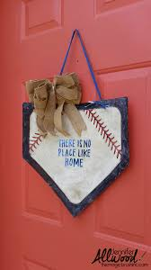 Decorative Door Hangers Baseball Home Plate Decor