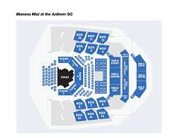 The Anthem Seating Chart Mamma Mia At The Anthem Signature Theatre