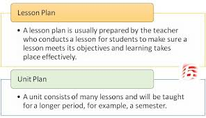 Difference Between Unit Plan And Lesson Plan | Unit Plan Vs Lesson Plan