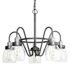 crofton collection 5 light rustic pewter chandelier with brushed nickel accents