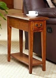 side table with shelves oak mission shaker style antique vintage home end shelf drawer decor two