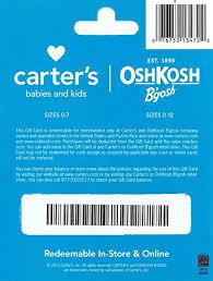 Carters Inc Carters Oshkosh Bgosh Gift Card