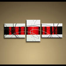 large abstract art on red white wall art with stunning handmade painting on canvas red white black abstract modern