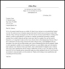 Vet Assistant Cover Letter Veterinary Assistant Cover Letter