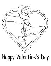 Small Picture Coloring Pages Of A Rose Hearts And Rose Colouring Pages Page 3