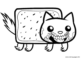 Small Picture Draw Zombie Nyan Cat Zombie Nyan Cat Coloring Pages Printable