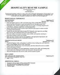 Management Resume Samples Hospitality Management Resume Samples 18