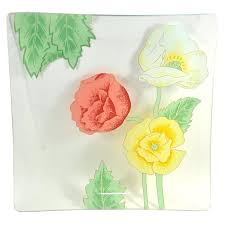 Rock Paper Flower Trays Rock Paper Flower Pink Green Print Tunic Trays Decorating Small