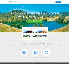 Tour Company Website Design Design Template Website Company Profile For Jatim Tourism