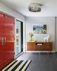 entry hall furniture. Entry Hall Furniture Midcentury With Red Front Door Mid Century Modern Foyer T