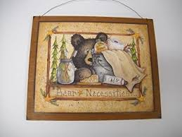 >amazon bear necessities wooden country bathroom wall art sign  bear necessities wooden country bathroom wall art sign bath decor outhouse theme