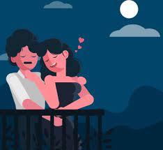 love couple cartoon free vector