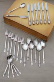 1847 Rogers Bros Silverware Patterns Interesting Antique Silverware Sets Silverplate Patterns And Vintage Stainless