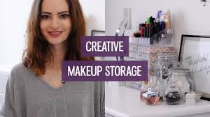 Creative makeup storage ideas for small collections | CharliMarieTV -  YouTube