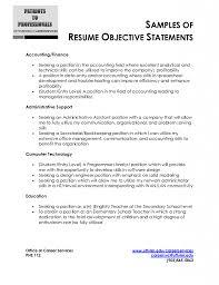 Resume And Cover Letter Resume Sample Objectives Sample Resume