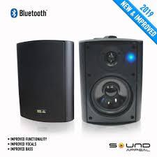 com bluetooth 5 25 indoor outdoor weatherproof patio speakers black pair home audio theater