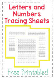 Letters By Number Letters And Numbers Tracing Sheets Free Printable