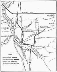 In 1946 there were two rival plans for buffalo's expressway system this is the plan that didn't get built