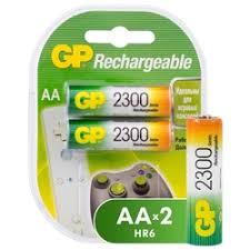 «<b>Аккумуляторы</b> АА, 2300 mAh (<b>GP</b>) (2 шт.)» — Батарейки и ...