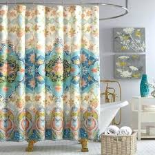 exciting salmon shower curtain c fabric shower curtains from bed bath beyond in salmon colored