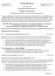 Sample Project Manager Resume Objective Manufacturing Project Manager Resume Engineering Project Manager 17