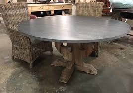 zinc top round dining table dining room with additional enchanting kitchen tips on zinc