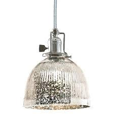 ribbed glass pendant light shades dome mercury shade