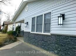 N Stone Siding Lowes Faux Panels Exterior Home Depot