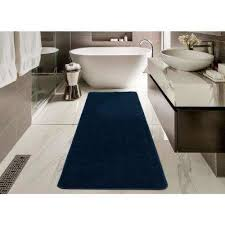 solid design navy blue 2 ft 2 in x 6 ft non