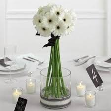 White and black reception wedding flowers, wedding decor, wedding flower  centerpiece, wedding flower