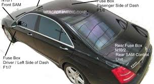 S Class W221 Fuse List Location Relay Chart 2006 2013