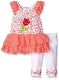 Nannette Baby Clothing Size Chart Nannette Baby Girls Little 2 Piece Fashion Legging Set