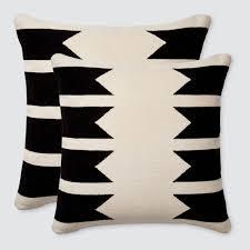 modern throw pillows  black  white  handmade in peru – the