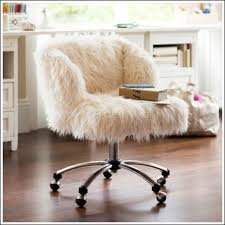 furry desk chair with arms