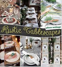 Rustic-style Christmas Tablescapes: Inspiration for Holiday Entertaining!