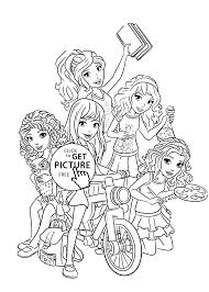 Small Picture Lego Friends all coloring page for kids printable free Lego