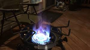 eastman outdoors portable kahuna burner with xl pot and wok brackets with adjule and removable
