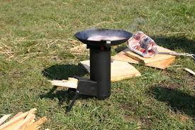 picture of camping rocket stove