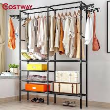 wardrobe clothes storage clothes hanger coat rack floor hanger storage wardrobe clothing drying racks mics 59