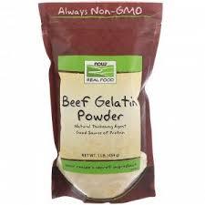 Now Foods, <b>Real Food</b>, Порошок желатина из говяжьих костей ...