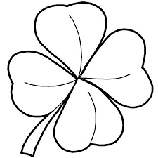 4 blättriges kleeblatt malen