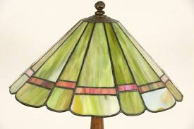 antique stained glass lamp shades sold lamp 1910 antique leaded stained glass shade